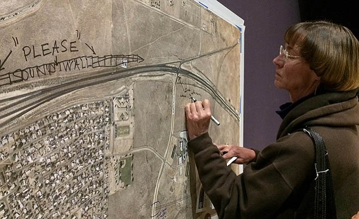 "Sue Mapp lives south of Highway 89A and would like to see a second left turn lane at Robert Road put in ""ASAP!"" Mapp attended the Dec. 12 ADOT meeting on the Highway 89A study. (Sue Tone/Courier)"