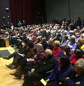 Big crowd turns out for Viewpoint discussion photo