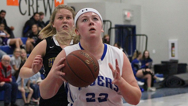 Kingman Academy's Chloe Elliott scored nine points Tuesday night in a 33-30 loss to Lake Havasu.