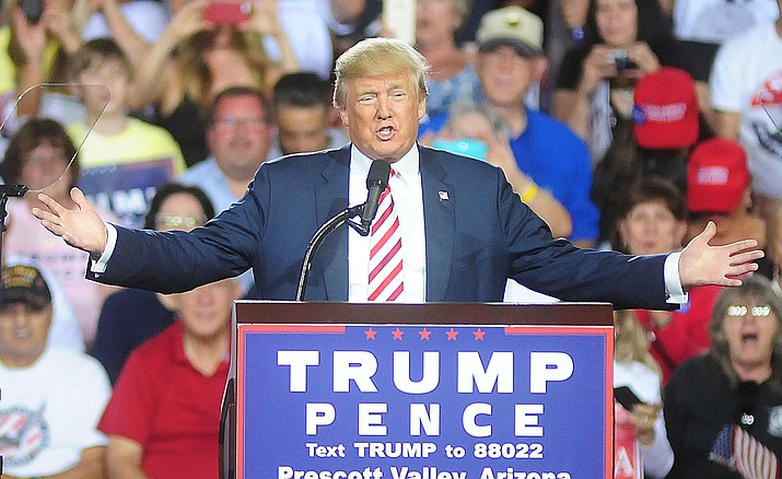 The tax deal would give President Donald Trump his first major victory in Congress. It fulfills a longstanding goal by top Republicans such as Speaker Paul Ryan to rewrite the loophole-cluttered tax code. ( Trump rally 2016 file photo by Les Stukenberg/The Daily Courier)