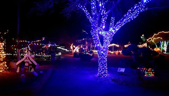 More lights at Heritage Sanctuary's Wild Lights & Animal Sights