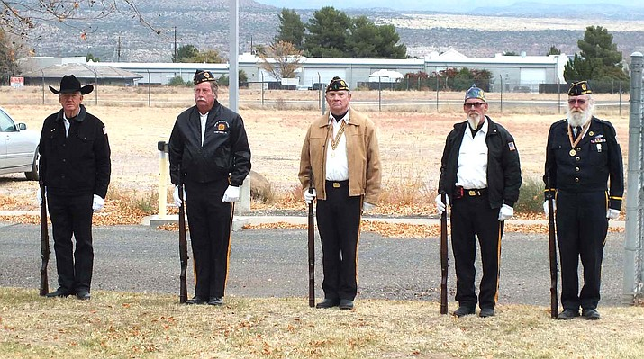 A Verde Valley Flyers memorial ceremony was held Saturday morning for Dayton Christensen and Jonathon Fineman at the Cottonwood Airport. Both men were veterans of the U.S. Airforce. (Photo courtesy of James H. Keyworth)