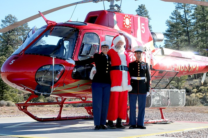 Santa gets a Marine Corps escort to deliver gifts to Havasupai children Dec. 13.
