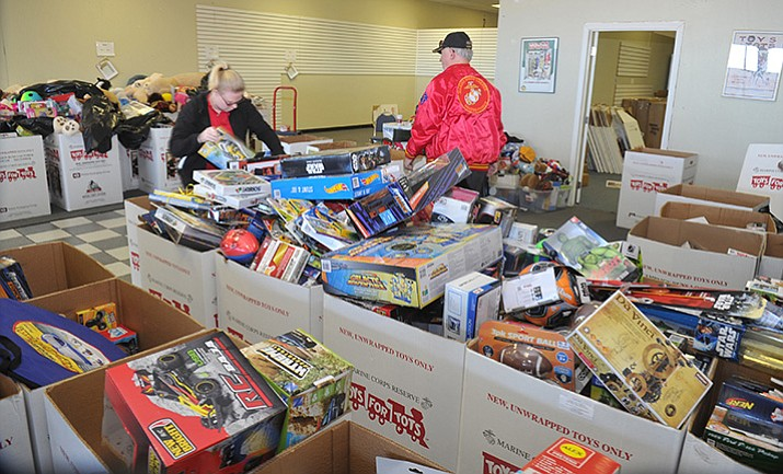 Toys For Tots Volunteer : Lots of toys for tots the daily courier prescott az