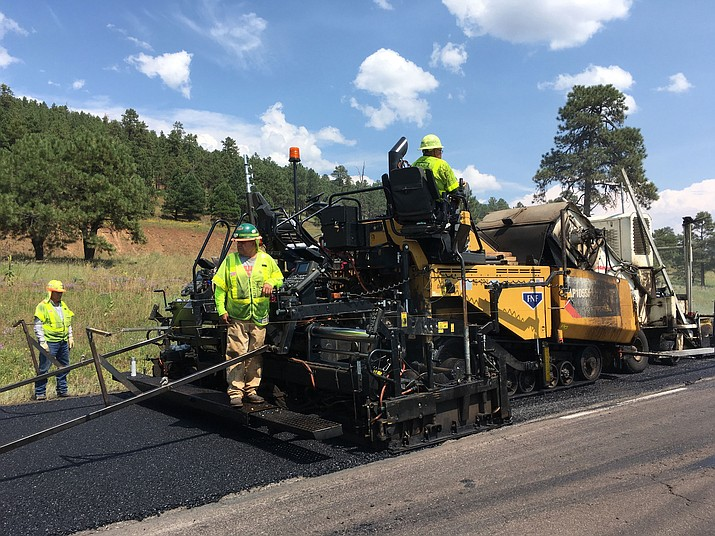 Freeway closures for construction work like this west of Flagstaff on Interstate 40 earlier this year won't be happening from Friday through Jan. 2 for the holidays.