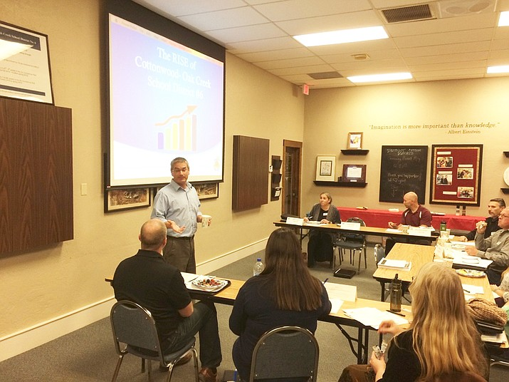 Superintendent Steve King shares history, current events and future vision for the Cottonwood Oak Creek School District. (Photo courtesy of Verde Valley Leadership)