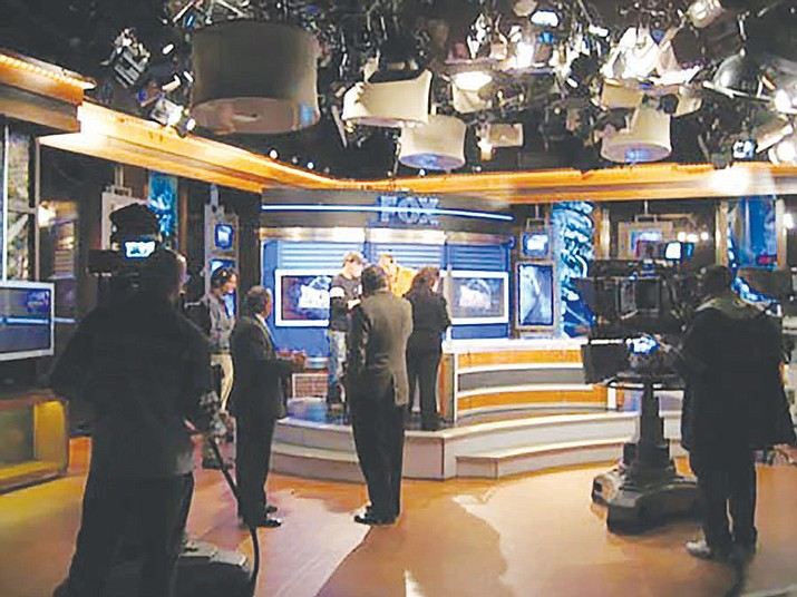 "Neil Cavuto's set for his show ""Your World"" on FOX News Channel."