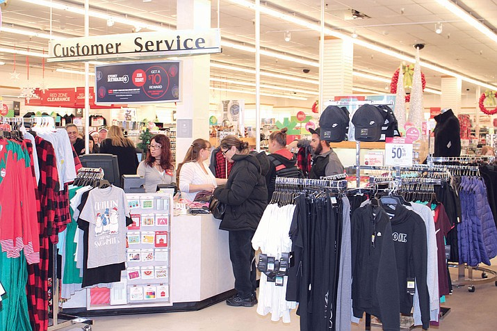 "JC Penney was bustling on ""Panic Thursday"" with about 25 people in line at the cash register. The store offers several deals for last-minute shoppers, including 60 percent off of everything in the store."