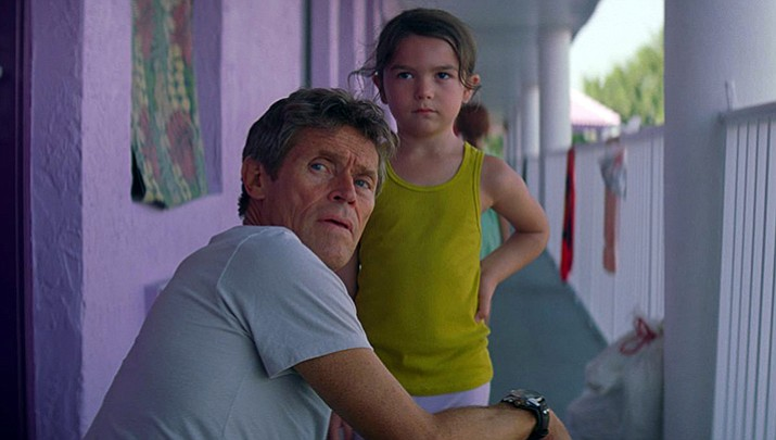 """Warm, winning and gloriously alive, Sean Baker's """"The Florida Project"""" is a deeply moving and unforgettably poignant look at childhood. Willem Defoe earned a Golden Globe nomination for Best Supporting Actor for his role in the film. """"The Florida Project"""" is also on every major critics list of the top 10 films of the year."""