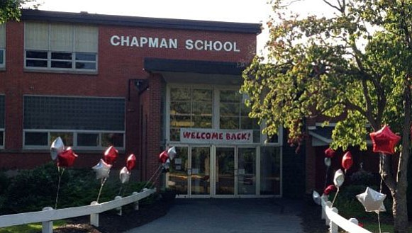 Chapman Elementary School, one of the schools within the Cheshire school system.