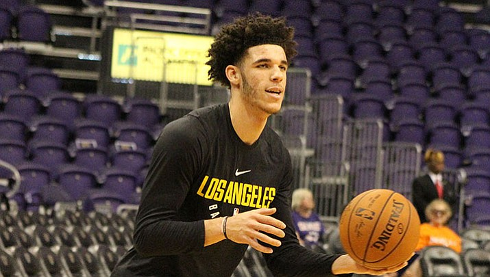 Lonzo Ball and the Lakers host the Timberwolves at 8:30 p.m. today in a showdown of young talent.
