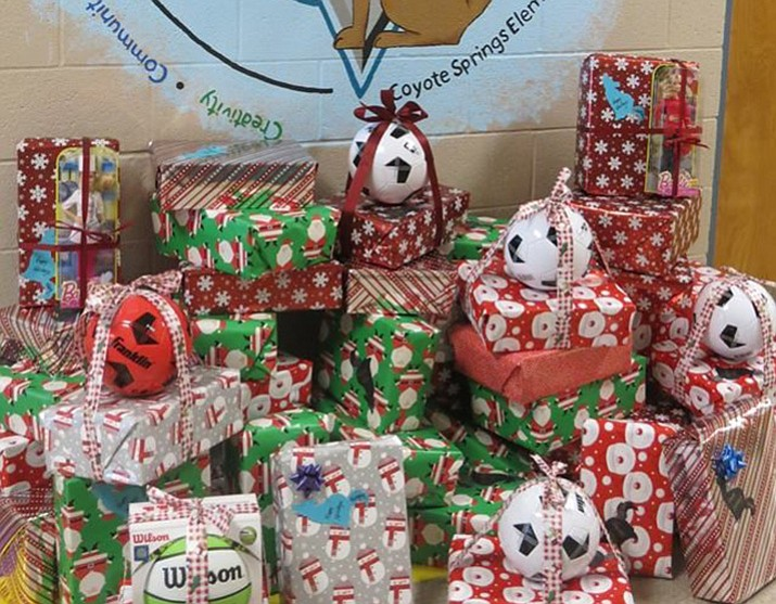 Gifts collected at Coyote Spring School. (Courtesy HUSD)