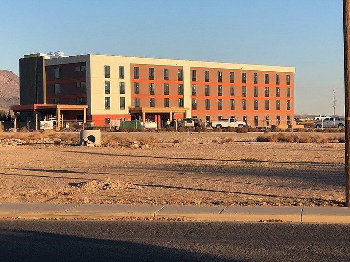 Construction projects, like this Home 2 Suites hotel by Hilton off of Interstate 40 and Stockton Hill Road, have helped with unemployment numbers.
