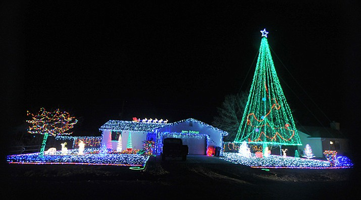 One of the most spectacular complete light displays in the area is in the 4800 block of Tonto Way in Prescott Valley.