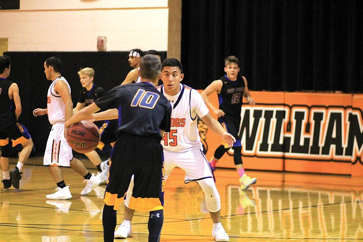 Juaquin Gutierrez guards a Spartan player Dec. 19.
