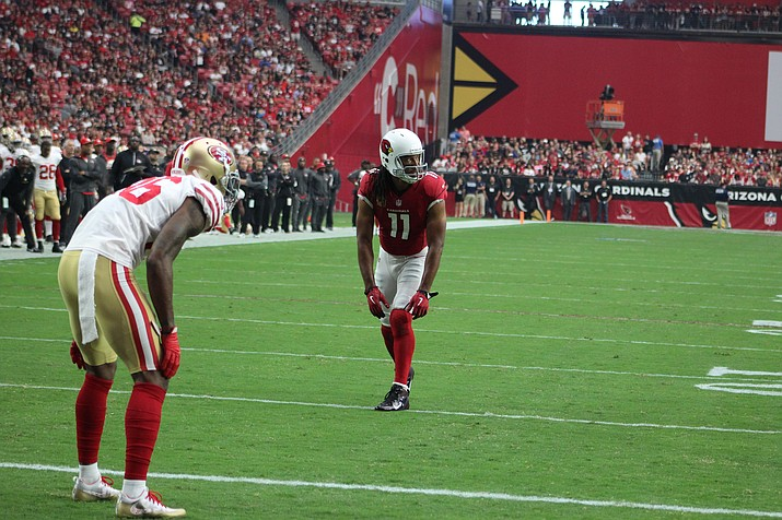 Larry Fitzgerald became the oldest receiver to have 100 receptions and 1,000 yards receiving in the same season.