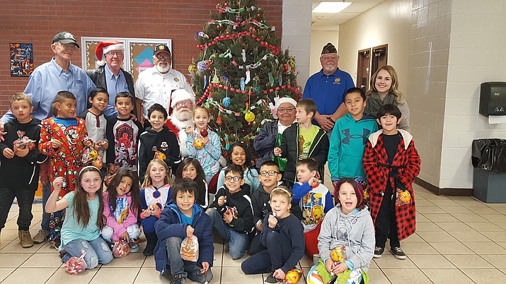 The VFW visits students at Williams Elementary School Dec. 20.
