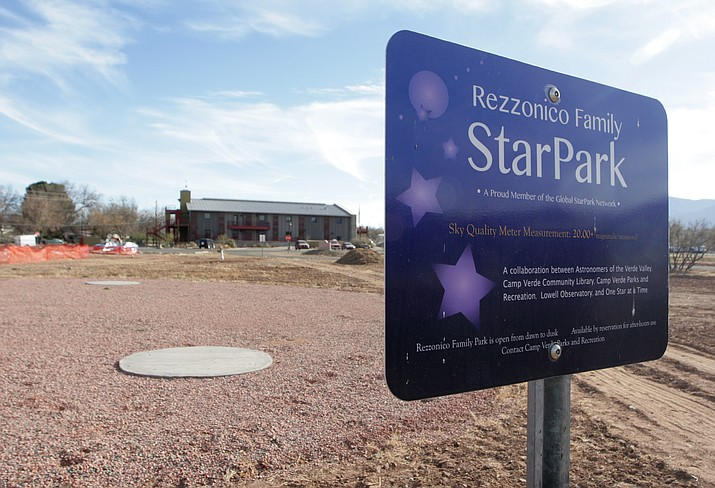 "With new fencing, roadway and parking improvements, as well as stargazing platforms (pictured) and a demonstration native grass project, Camp Verde Parks and Recreation Division Manager Mike Marshall says he is pleased with ""tangible improvements"" to Rezzonico Family Park that are ongoing through 2018. (Photo by Bill Helm)"