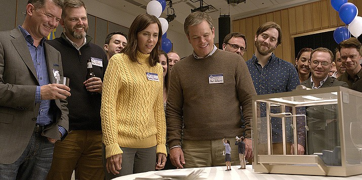 Downsizing is a film that uses a sci-fi theme to portray the odyssey of a man played by Matt Damon, who is trying to make more sense of his life. That life isn't really so bad to begin with, but he wants more.