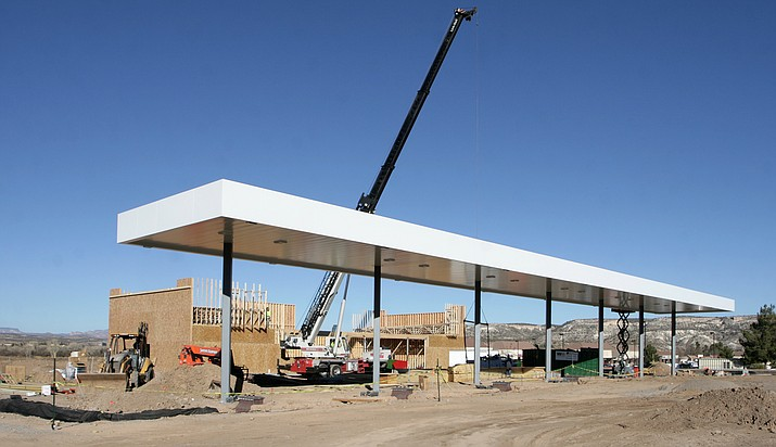 Construction is moving along on the new Circle K at Finnie Flat Road. Camp Verde Economic Development Director Steve Ayers counts current construction as three successes for the Town in 2017.