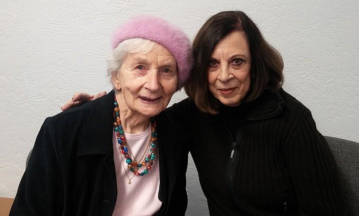 Lynne Montedonico (right) Libbie, VVCC neighbor (left). Photo courtesy of Verde Valley Caregivers Coalition