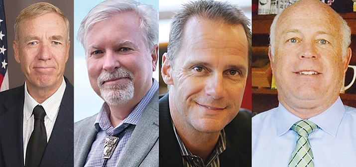 From left, Thomas Thurman, Randy Garrison, Steve Gesell, Doug Bartosh