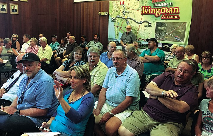 In this file photo from August, it was standing room only at a Special Council Meeting regarding the airport after the Kingman Airport Authority canceled the fourth and final workshop with the council.