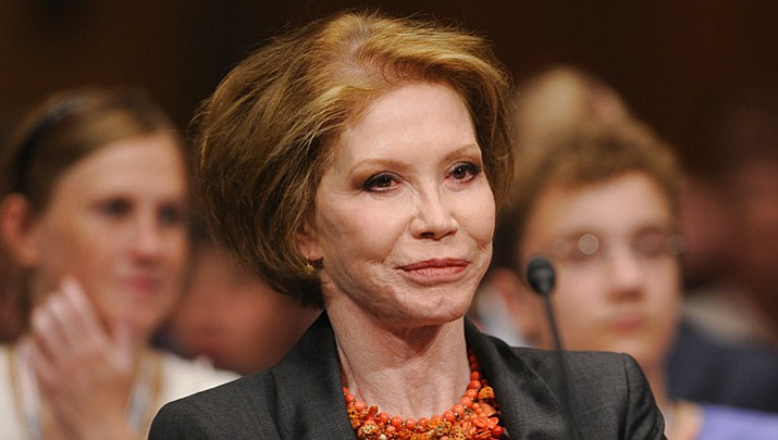 In this 2009 file photo, actress Mary Tyler Moore waits to testify on Capitol Hill in Washington before the Senate Homeland Security and Governmental Affairs Committee hearing on Type 1 Diabetes Research.  Moore was among the notable figures who died in 2017. (AP Photo/Susan Walsh, File)