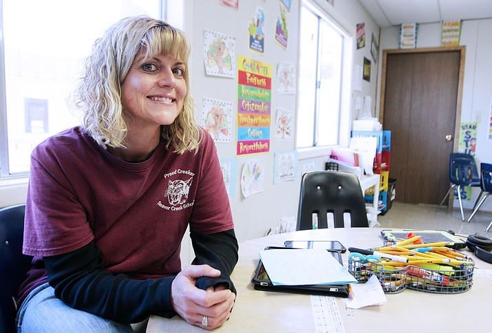 In college, Jessica Lux-Herrera volunteered at the Special Olympics. Since then, the Beaver Creek School teacher knew she wanted to work with special ed students. (Photo by Bill Helm)