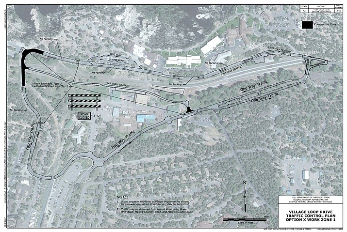 Road construction will take place at the Hermit Road interchange in January to resurface and improve the Hermit Road and Village Loop intersection.