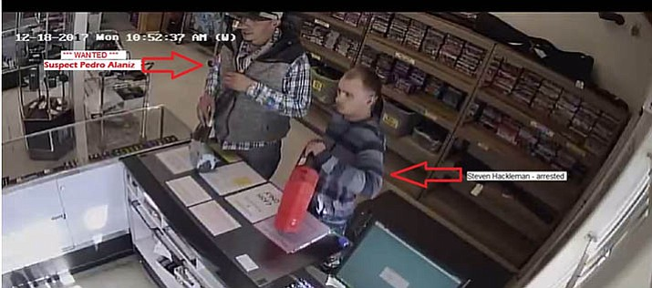 Surveillance footage still of suspects. (YCSO/Courtesy)