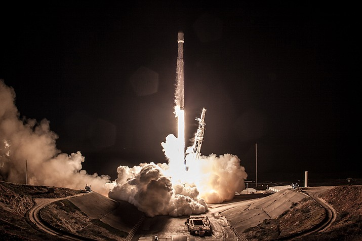 SpaceX launches Falcon 9 at Vandenberg Air Force Base in southern California Dec. 22.
