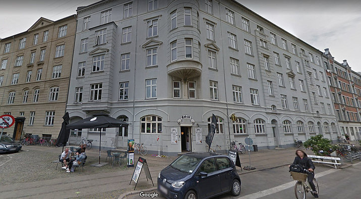 Cafe 33 in Copenhagen, Denmark where the 1.3 million dollar bottle of vodka was supposedly stolen. (Google Maps)