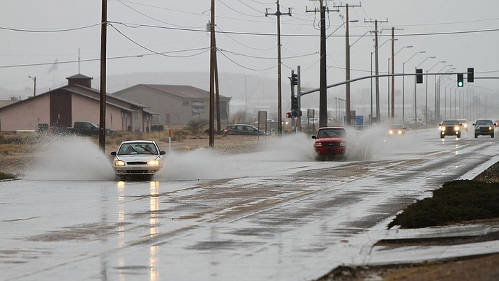Kingman hasn't had rain like this file photo from a year ago since September.