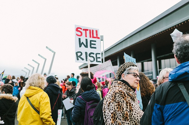 A photo from one of the Women's March's in Vancouver, BC that happened around the globe in March of 2017. (Alexa Mazzarello, Unsplash)