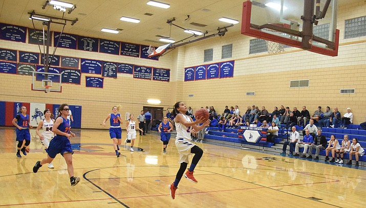 Camp Verde sophomore Amanda Lozanilla lays the ball up against Chino Valley. The No. 6 Cowboys play at No. 3 Sedona Red Rock on Tuesday at 5:30 p.m. (VVN/James Kelley)