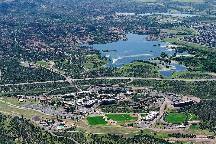 An aerial photo of Embry-Riddle Aeronautical University's Prescott campus taken recently. (Embry-Riddle Aeronautical University/Courtesy)