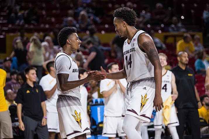 Arizona State dropped to No. 11 in the latest AP poll after losing to Colorado Thursday. The Sun Devils bounced back with an 80-77 win at Utah Sunday. (Sun Devils Athletics photo)