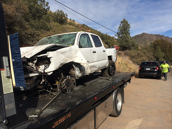 This truck was removed from the scene where the FBI was investigating the shooting on SR89A Saturday in Oak Creek Canyon. VVN/Vyto Starinskas