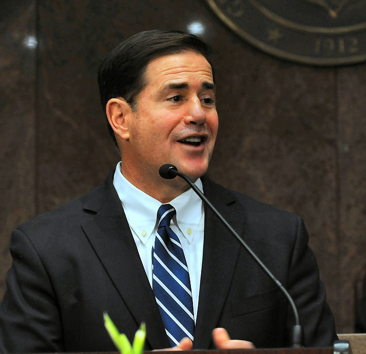 Gov. Doug Ducey gives his State of the State speech on Monday.