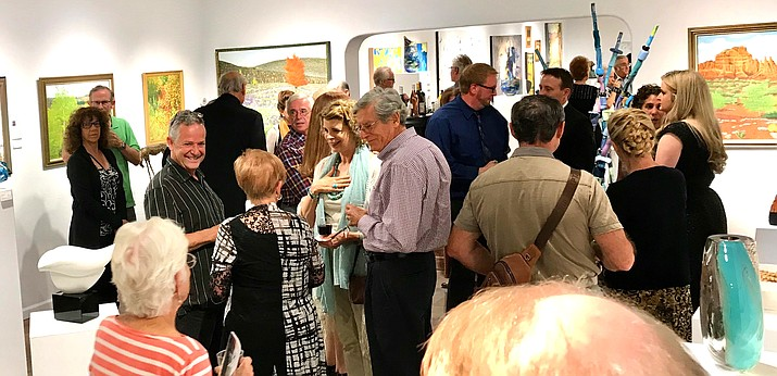 Sedona Gallery Association opening reception at Lanning Gallery.