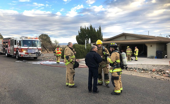 Verde Valley Fire District officials said moderate damage occurred from a chimney vent fire at this home  in the 1900 block of Broken Rock Drive in Verde Village Tuesday morning. (Photo courtesy of Verde Valley Fire District)
