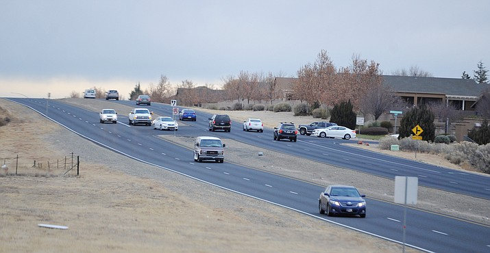 The Town of Prescott Valley will be conducting a traffic study that will look at certain intersections along Glassford Hill Road and limiting the ability to make left hand turns onto Glassford Hill Road. Granville Parkway south access, shown here, Tuscany Way (already no left hand turn, Panther Path (middle school/NARTA/Yav Coll) and the Frontage Road near Highway 69. (Les Stukenberg/Courier)