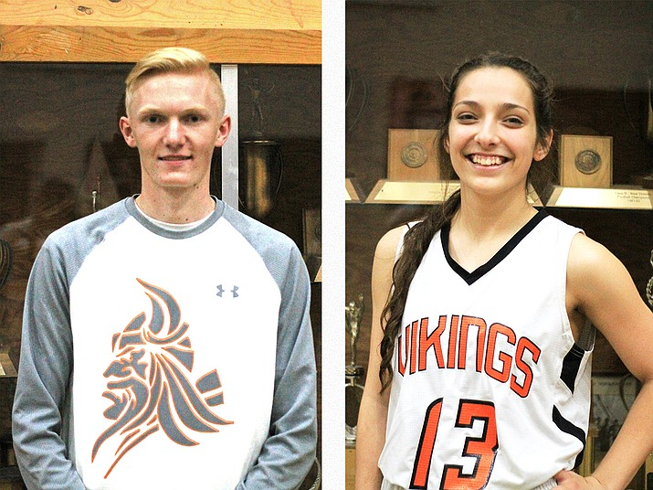 Payce Mortensen and Paige Kmetz are senior athletes at Williams High School.