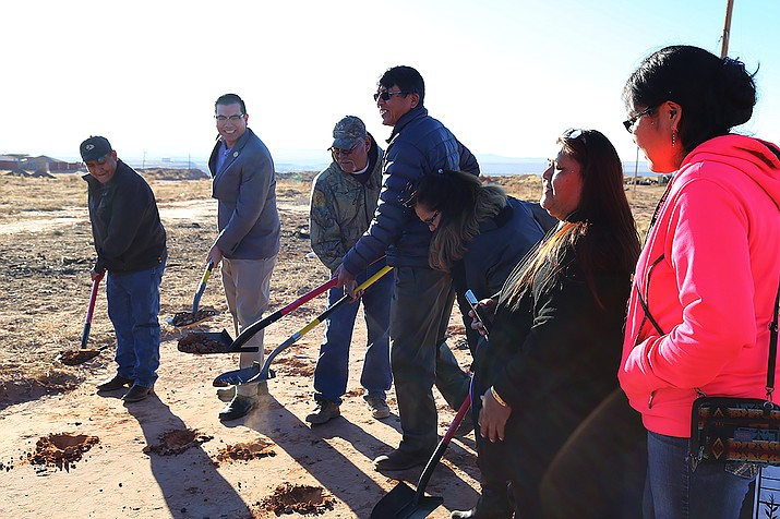 Groundbreaking for the 36 new homes in the Former Bennett Freeze Area began on Dec. 19. Submitted photo