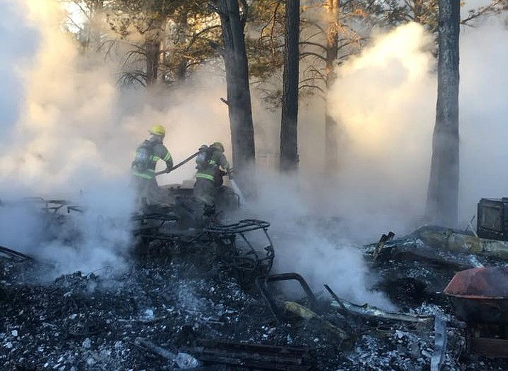 Ponderosa Fire battles a house blaze in Parks Dec. 28.