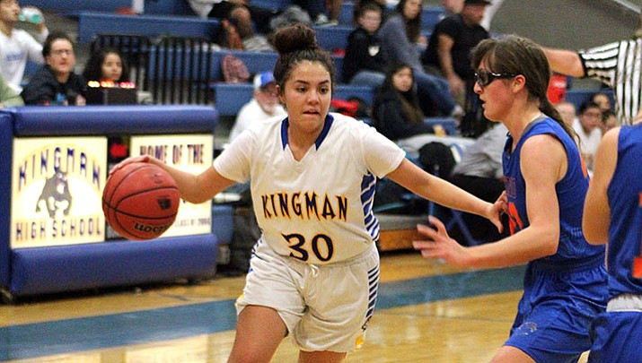 Kingman High's Sukwana Quasula scored a game-high 18 points Tuesday night to lead the Lady Bulldogs to a 50-42 victory over Chino Valley.