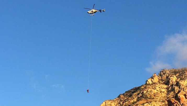 Teen rescued after spending night on Thunder Mountain