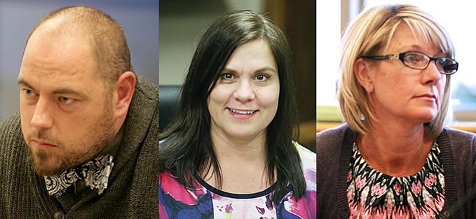 From left, Stephen Renard, JoAnne Cook and Deanna DeWitt. VVN/Bill Helm