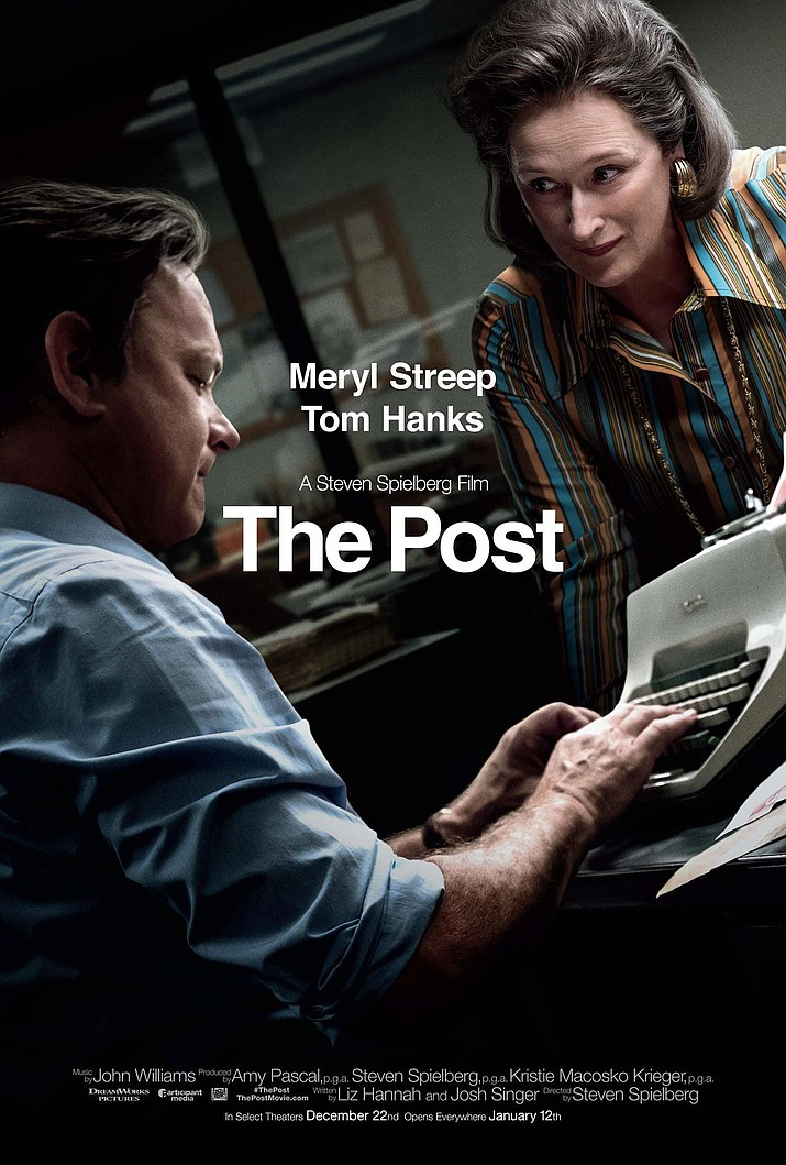 Katharine Graham is the first female publisher of a major American newspaper - The Washington Post. With help from editor Ben Bradlee, Graham races to catch up with The New York Times to expose a massive cover-up of government secrets that spans three decades and four U.S. presidents. Stars Meryl Streep and Tom Hanks.